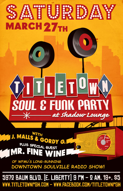 TITLE TOWN Soul & Funk Party with guest DJ MR. FINE WINE